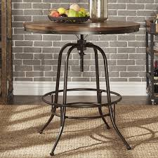 36 counter height table berwick iron industrial round 36 42 inch adjustable counter height