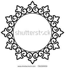 Decorative Line Clip Art Abstract Mandala Frame Mehndi Elements Stock Vector 323233367