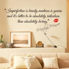 u0026 impersonation is beauty quotes marilyn monroe art wall stickers