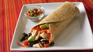 cuisine tex mex tex mex black bean and chicken wrap