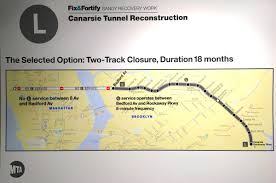 The L Train Map L Train To Close From Manhattan To Brooklyn In 2019 For Superstorm