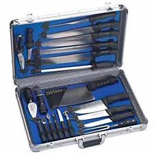 professional kitchen knives set slitzer 22 pcs professional chefs cutlery knife set with ebay