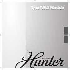 hunter fan fan type g models user guide manualsonline com