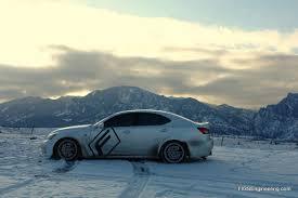 lexus ls in snow how well do snow tires work