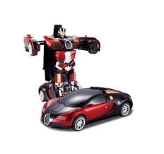 cool car toy the flyers bay one button transforming car into robot with cool
