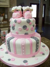 pink and gray baby shower pink gray baby shower cake cakecentral