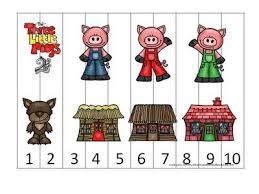 pigs preschool activities 3 match sorting
