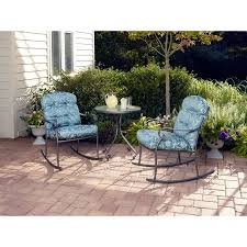 Walmart Mainstays Patio Set Mainstays Willow Springs 3 Piece Rocking Outdoor Bistro Set Seats