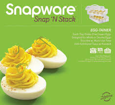 cheap deviled egg tray snap n stack food egg 2 layer kitchen dining
