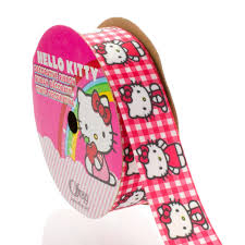 hello ribbon 7 8 gingham hello satin ribbon