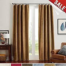 window drapes amazon com room darkening velvet curtains 84 gold brown window