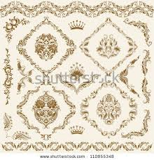 free curled damask page vector free vector stock