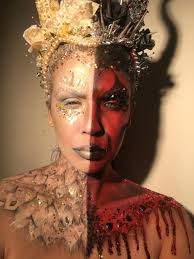 instagram insta glam halloween makeup halloween makeup half angel half devil makeup handmade headdress instagram