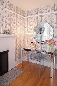 elegant mirror desk contemporary home office