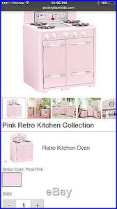 pink retro kitchen collection kitchen pottery barn