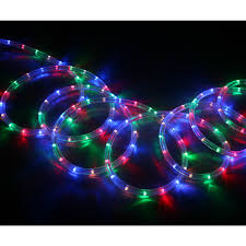 shop neoflam multi color led rope light actual 18 ft at lowes