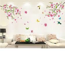 removable wall stickers cherry blossom tree flower butterfly art removable wall stickers cherry blossom tree flower butterfly art mural home diy ebay