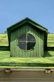 old circular dormer attic window royalty free stock image image