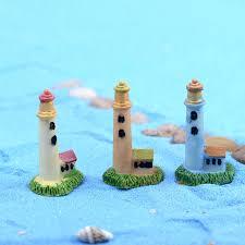 Lighthouse Garden Decor 1pc Lighthouse Light Tower Diy Resin Micro Fairy Garden Decor Mini