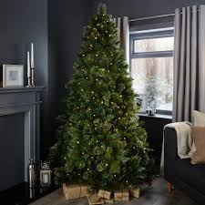 outdoor pre lit trees backyard 7ft cleveland tree