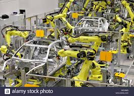 porsche factory leipzig germany 2nd sep 2016 several welding robots working on