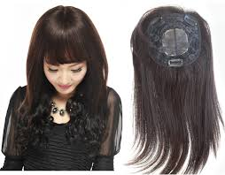 human hair wiglets for thinning hair 100 human hair topper hand tied whirl hairpiece half wig for