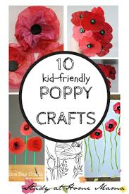 10 poppy crafts for remembrance day tissue paper flowers craft