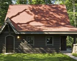 cabin exterior color schemes exterior red roof complimentary