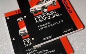 toyota 4runner repair 1993 toyota 4runner repair manuals rn130 rn131 vzn120 vzn130