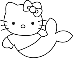 free printable coloring hello kitty mermaid coloring pages 94 for