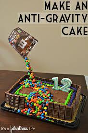 easy birthday cake decorating idea anti gravity cake