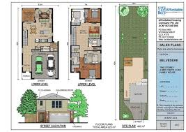 house plan floor story small plans simple homes two storey narrow