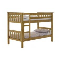 Barcelona Solid Pine Bunk Bed Antique Graphite Or Whitewash Finish - Pine bunk bed