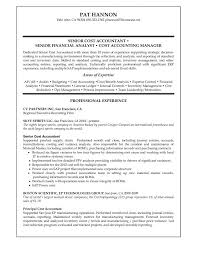 senior accountant resume sample sample accountant resume sharon