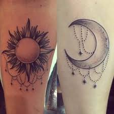 image result for sun and moon friendship tattoos matching tats