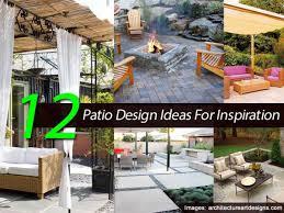 patio 16 patio design ideas backyard stone patio design ideas