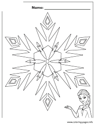 elsa frozen snowflake disney coloring pages printable