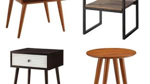 mid century modern accent table modern accent tables new side the holland regarding 25