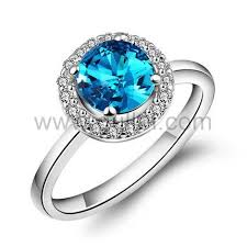 womens engagement rings engraved blue topaz sterling silver womens engagement ring