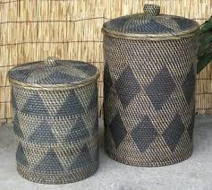Wastepaper Basket Earth Village Rakuten Global Market Lombok Rattan Wicker Basket