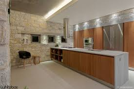 Kitchen Architecture Design by Rough Stone House By Whitebox Architects