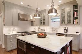 Brushed Nickel Island Lighting Traditional Kitchen With Inset Cabinets Farmhouse Sink In For