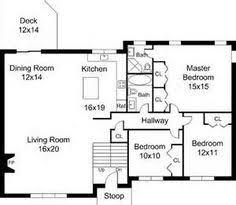 split ranch floor plans split level house plans three bedroom split level hwbdo67425