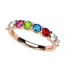 family ring nana u r family ring 1 to 9 simulated birthstones in
