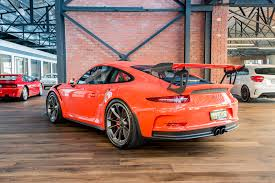 porsche gt3 rs orange 2016 porsche gt3 rs richmonds classic and prestige cars