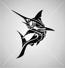 tribal marlin fish vector on vectorstock tatoos