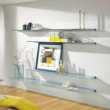 Hanging Floating Shelves by Best 25 Glass Shelves Ideas On Pinterest Floating Glass Shelves