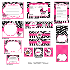 zebra print baby shower party package zebra print party
