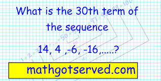 sequences and series al2 finding nth term common difference