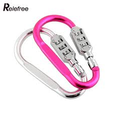 relefree 3 digit resettable combination padlock travel luggage